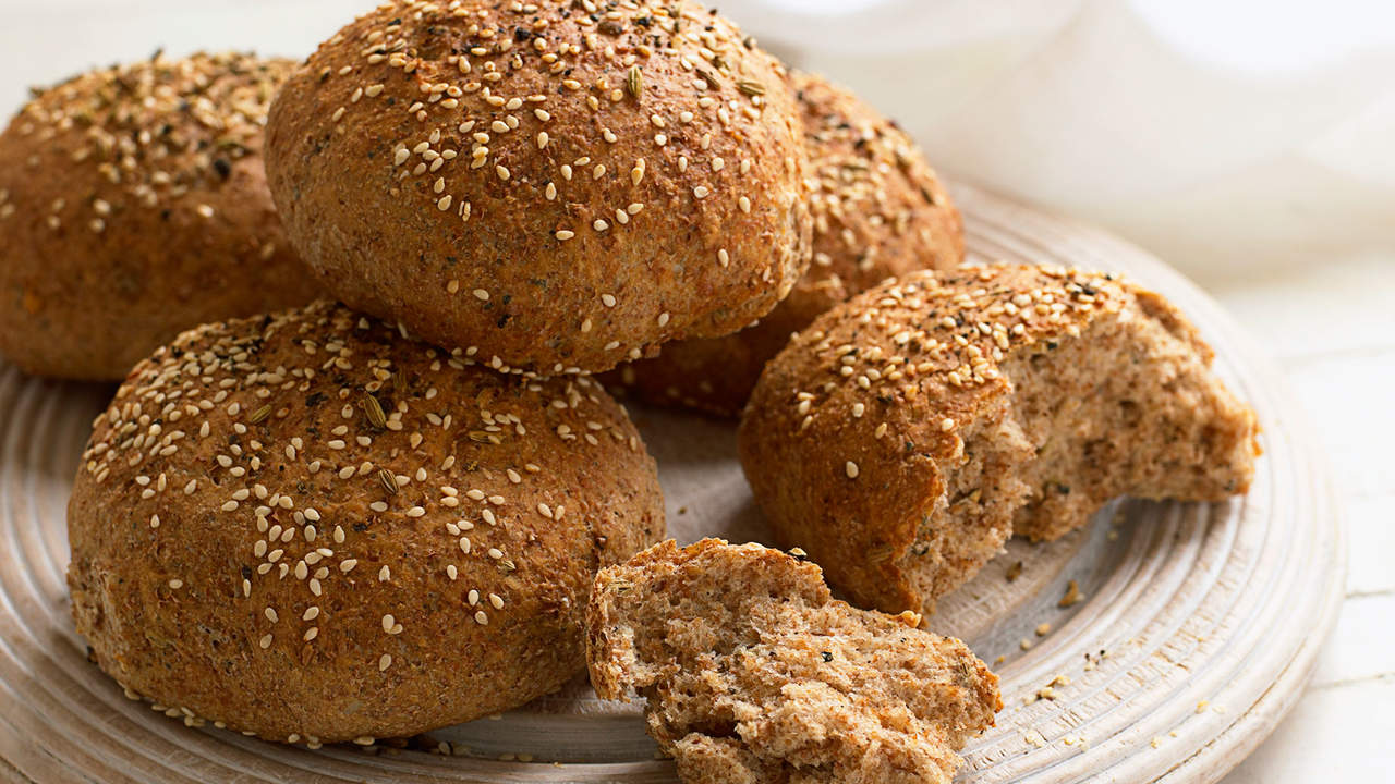 eat a whole grain roll for added fiber