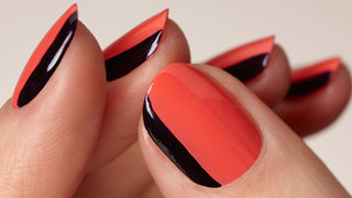 gel-manicure-orange-black