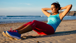 no-gym-workout-situp-beach