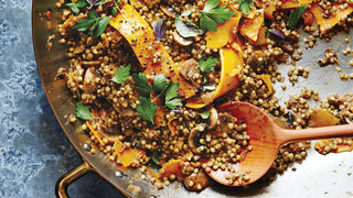 cheesy-sorghum-shaved-squash-pilaf-ancient-grains-recipe