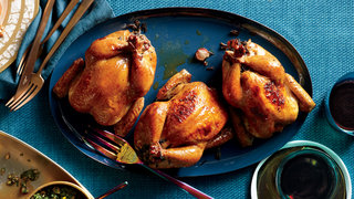 glazed-cornish-hens-rice-stuffing-recipe