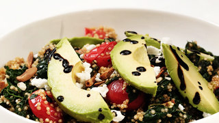 warm-quinoa-with-wilted-kale-and-avocado-video