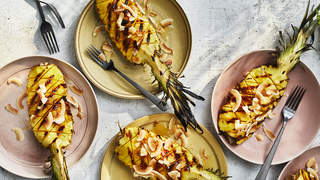 Grilled Pineapple with Toasted Coconut