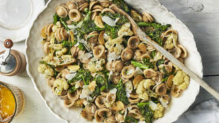 charred-vegetable-orecchiette-italian-recipes-health-mag-sep-2020