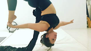 Ashley Graham Shows Off Her Aerial Yoga Skills