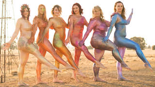 Women Pose Nude in Glittery Body Paint for Body Positivity: 'They Feel Freed of Their Shame'