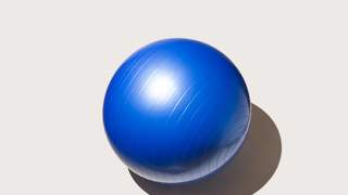 exercise-ball-fitness-health-betterment-motto-stock