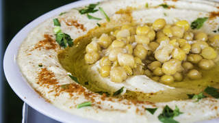 Close Up Of Hummus On Plate