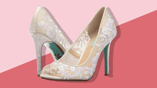 betsey johnson blue white pumps from zappos
