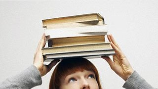 books-on-head