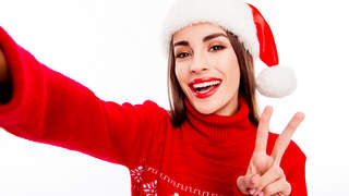 christmas sweater selfie holiday holidays