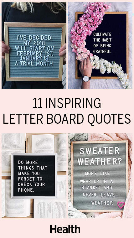 Letter Board Quotes That Will Inspire You Health
